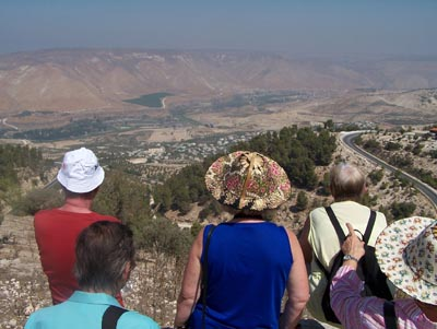 See Genezaret vom Dorf Umm Qais - Jordanien